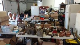 Antique tools and cars