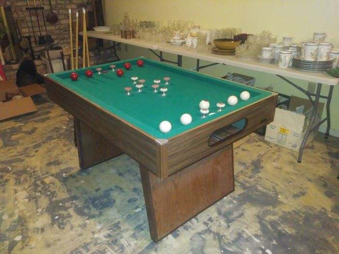 1970's bumper pool table