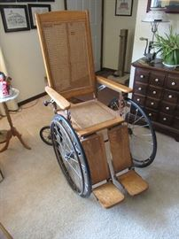 1930's wheelchair with new caning