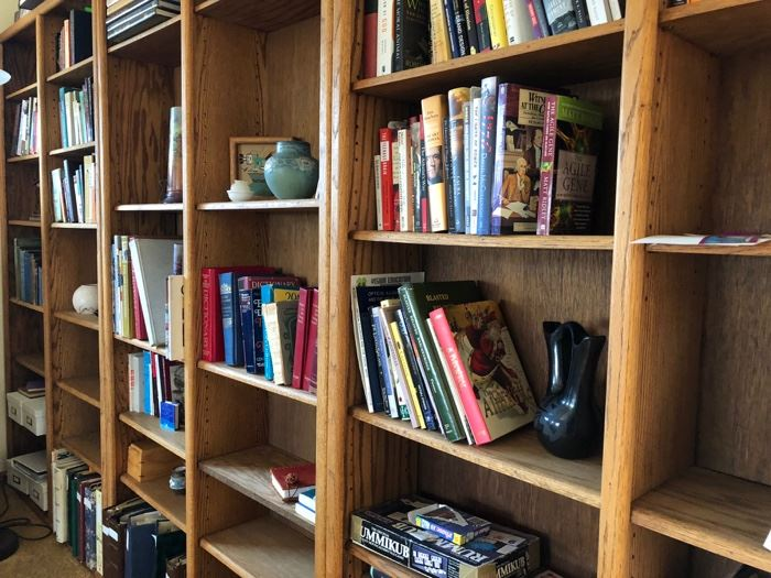Tall Wood Bookcases!