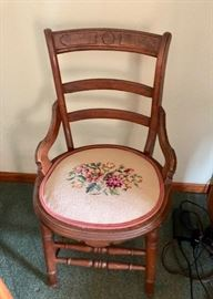 Victorian side chair with Needlepoint