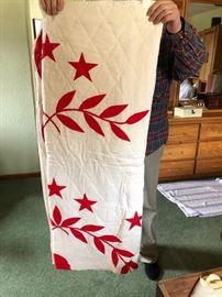 Red & White Vintage Quilt