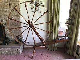 Large spinning wheel