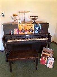 Vintage upright Baldwin-Hamilton piano in great shape & sounds wonderful!