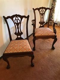 Examples of formal dining room chairs.