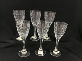 Christian Dior Crystal Water Goblets https://ctbids.com/#!/description/share/138650