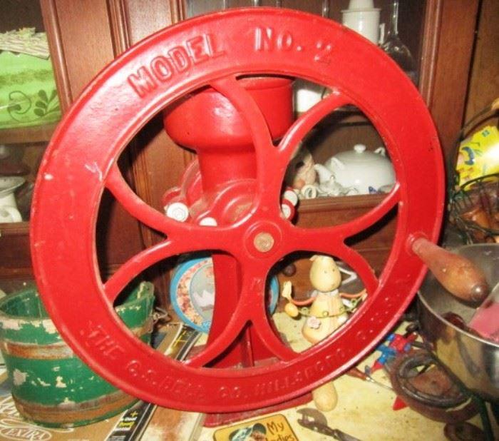 Model No. 2 Hillsboro Coffee Grinder w/ fly wheel