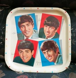 Vintage 1964 Beatles Tin Tray, Made in Great Britain, Very Nice!