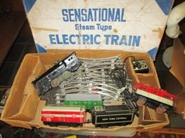 Vintage Sensational Electric Train in original box (one set of several, varying ages)
