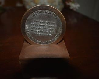 """Commemorative Medal for The Bell System """"The End of An Era - A New Beginning"""" December 31, 1983."""