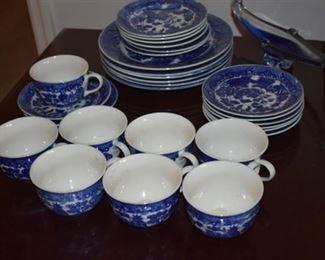 Vintage Flo-Blue Willow-ware Japan