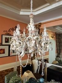 large seashell candelier