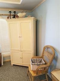 coastal white armoire