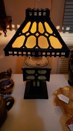 Stain glass lamp very old