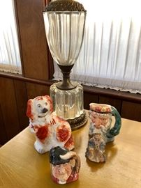 Staffordshire Dog, Tobys, Crystal Lamp, English Porcelain & More