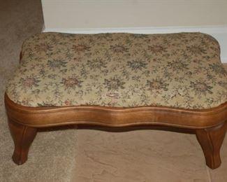 Vintage needlepoint stool