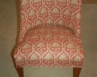 Cushioned high back chair (one of two)