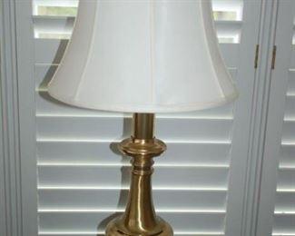 Tall brass lamp