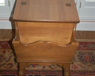 Side table, storage cabinet/magazine rack