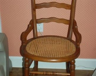 Vintage round weaved/caned bottom chair