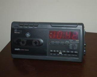 Clock/cassette/radio