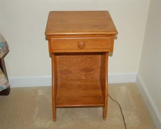 Vintage side table with drawer