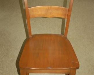Wood high back chair