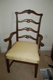 Beautiful Georgian mahogany Chippendale elbow chair