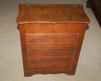 Vintage wooden laundry hamper