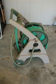 Hose reel with hose