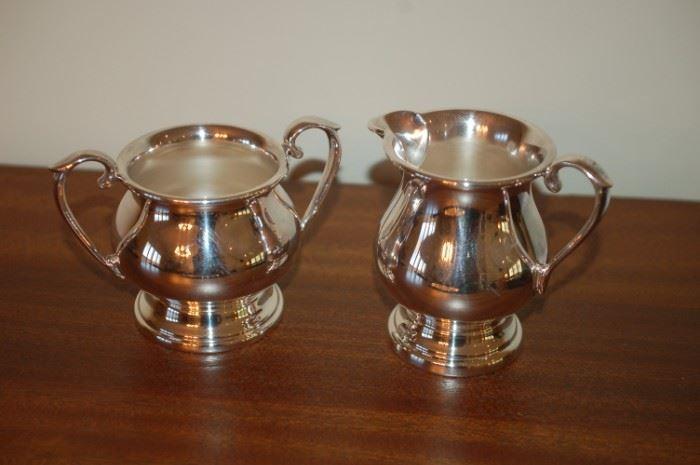 Cream and Sugar - Shelfield Silver 60X