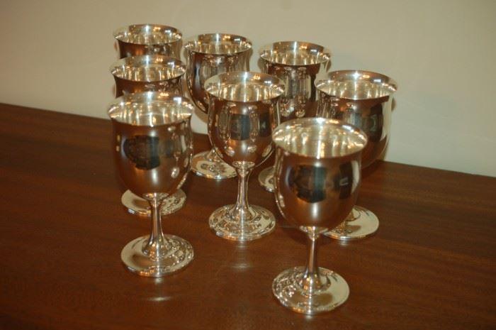 Sterling goblets - Reed & Barton, Sterling H120