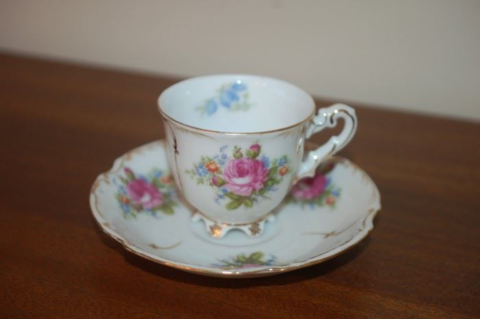 """Tea Cup and Saucer - """"Paulux"""" Occupied Japan"""
