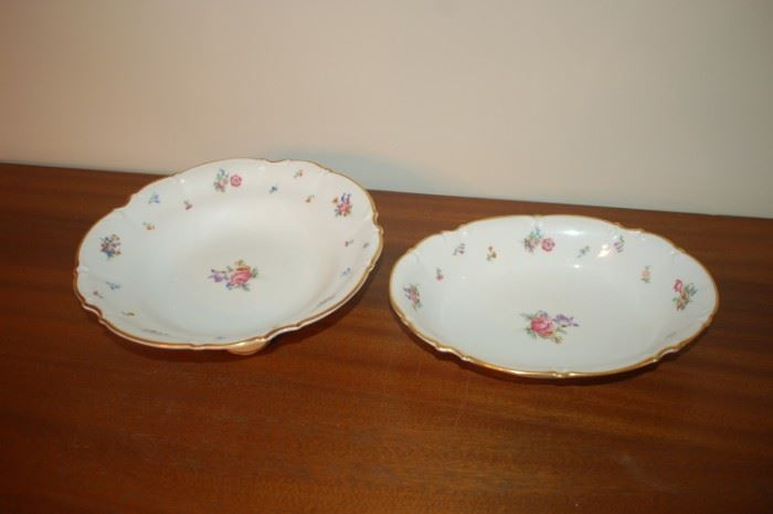 """Round Serving bowl 10.5"""", Oval serving bowl 10.5"""" - Hutschenreuther Gelb, Bavaria Germany, PASCO, 7619, Mayfair"""