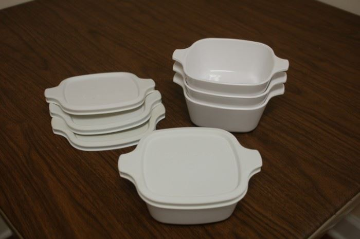 Corning ware dishes with plastic top