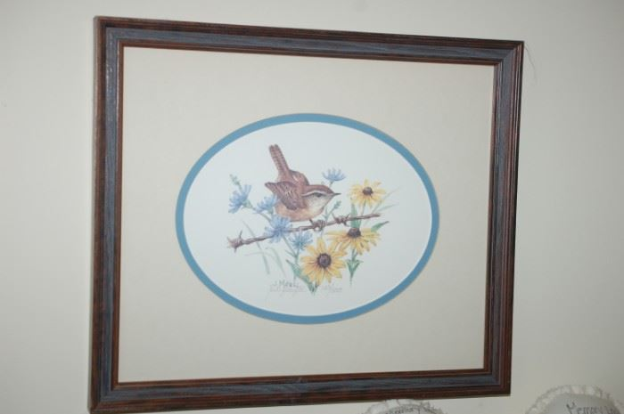 Wildlife by Jay Mizzel,  signed, Wren, 143/500