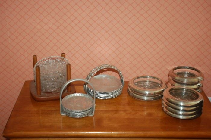 Silver/aluminum coasters