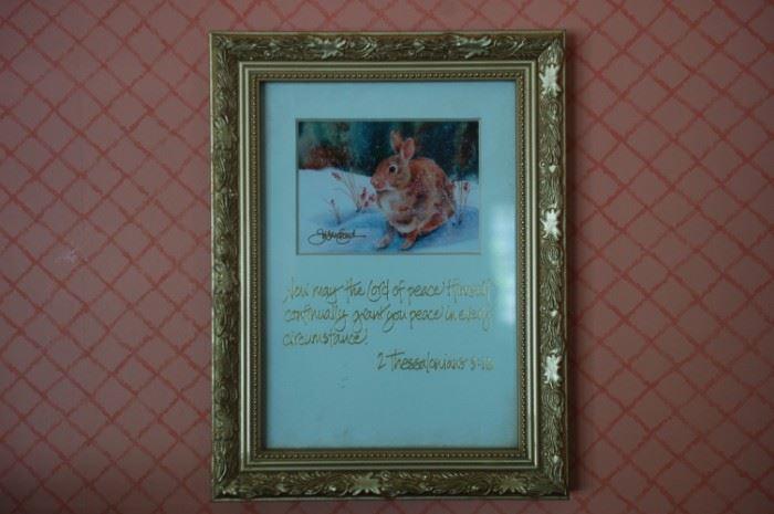 Inspirational plaque/picture