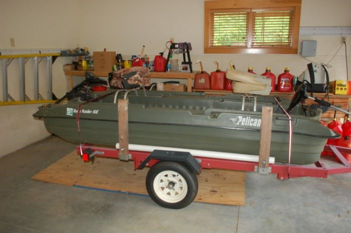 Pelican Raider 2 seat bass/fishing boat with trailer