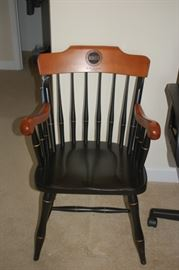 Wooden, straight back chair