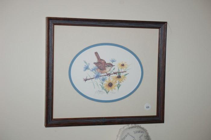 Wildlife by Jay Mizzel,  signed Wren, 143/500