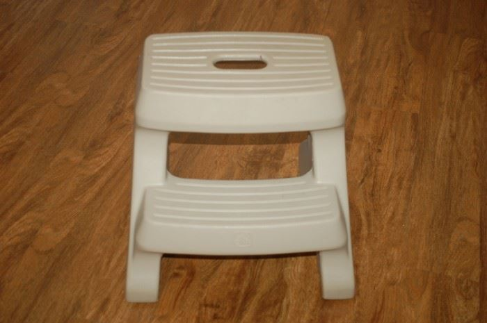 Sturdy plastic step stool (one of two)