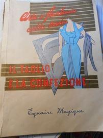 Vintage Italian Dress Pattern Book 1955