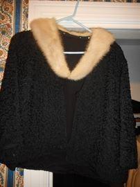 Vintage Persian Lamb Jacket with Fur Collar