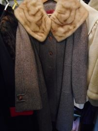Vintage Montgomery Ward Coat with Fur Collar