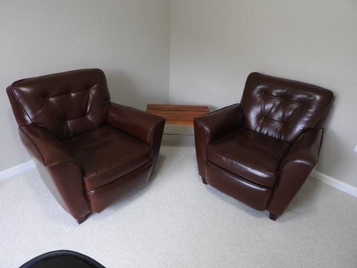 2 Leather Chairs LL