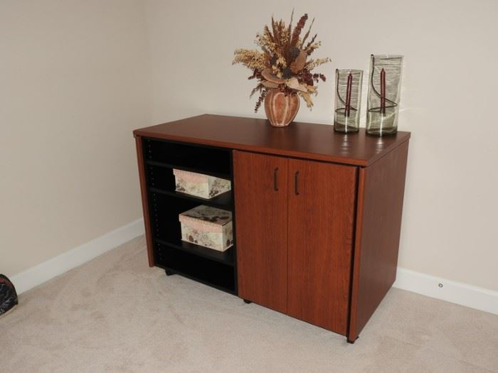 California Closet Home Entertainment Center and Cabinet Cherry