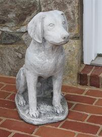 Cement Labrador Retriever Statue