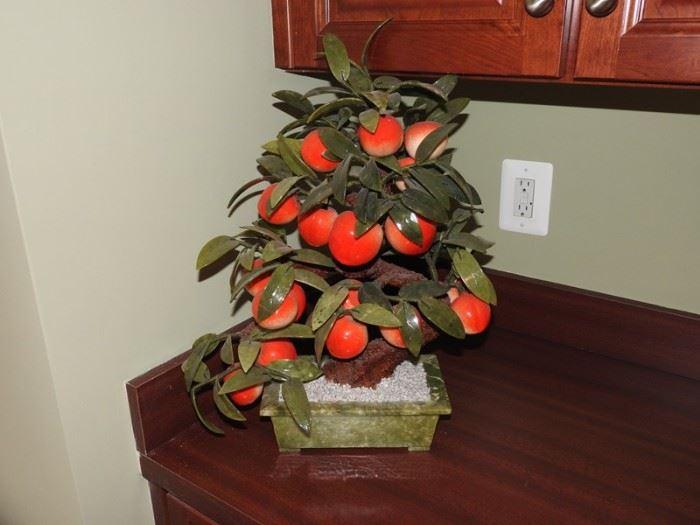 Ceramic Asian Fruit Tree