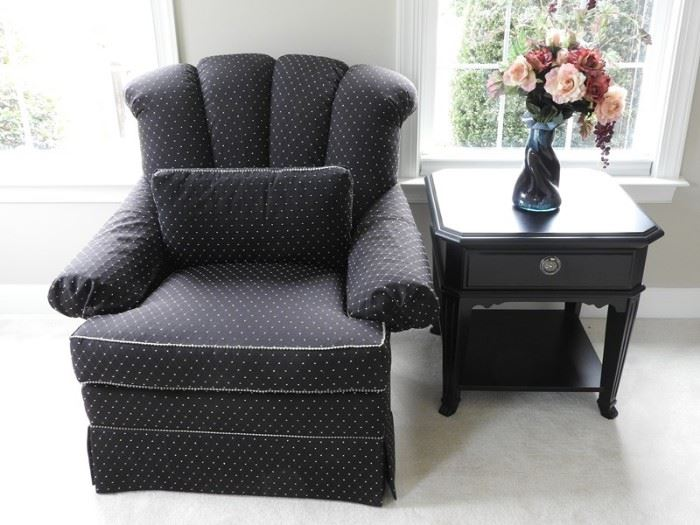 Drexel Heritage Black Fabric Chair